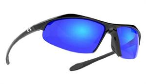 Under Armour Zone Sunglasses-5168Shiny Black/Gray Polarized w/ ML Blue Mirror-Style#UA8600010, by Under Armour Sunglasses