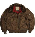 Alpha Industries Injector Jacket, Brown -  Aviator Jackets