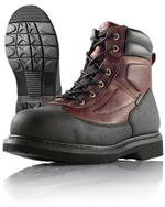 Wellco Mens Brown Resistor Steel Toe Slip Resistant 6 Inch Work Boots # 720
