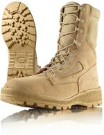 Wellco Mens 8 Inch Temperate Weather Waterproof Combat Boots - Air Force Boots